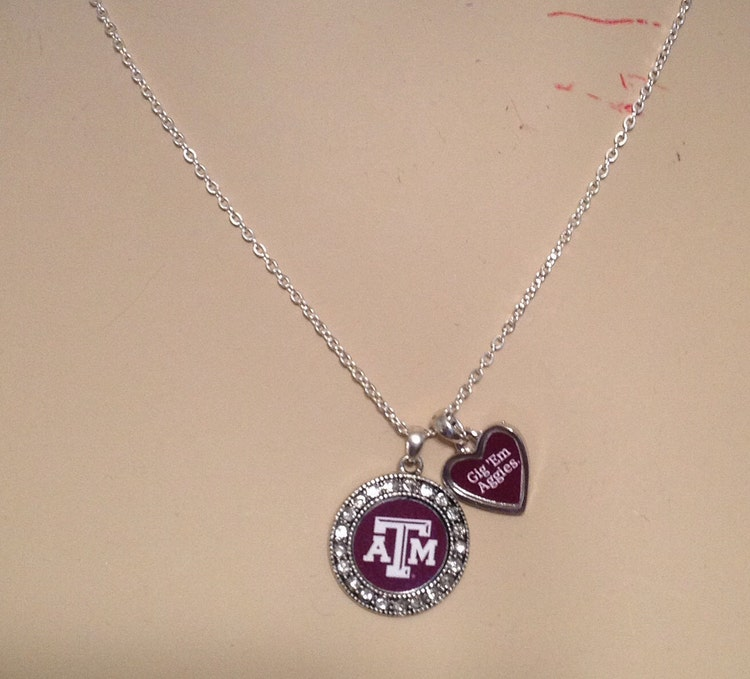 Texas A Amp M Gig Em Aggies Necklace And Or Earrings By