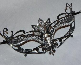Laser Cut Metal Mask with Rhinestones