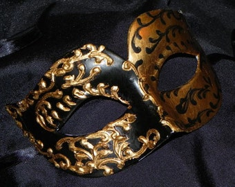 Black and Gold Venetian Mask