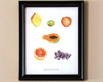 Eat More Fruit Printable 8x10 Wall Art