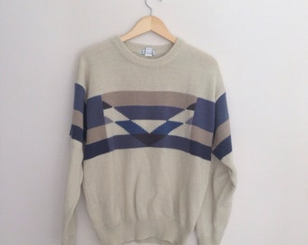 Vintage Geometric Shapes Sweater Size XL