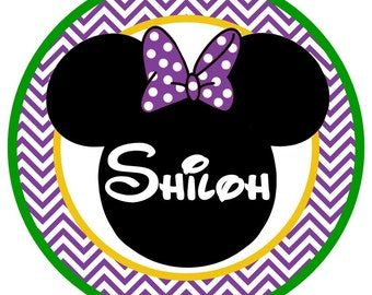 Cute Mardi Gras Minnie Mouse Iron on