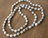 "Job's Tears Beads, Natural Seed, Earthy Organic Eco-friendly 36"" bead strand (872R)"