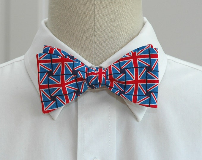 Men's Bow Tie British flag Union Jack design, English flag bow tie, British flag bow tie, patriotic UK bow tie, UK fan gift, English fan tie