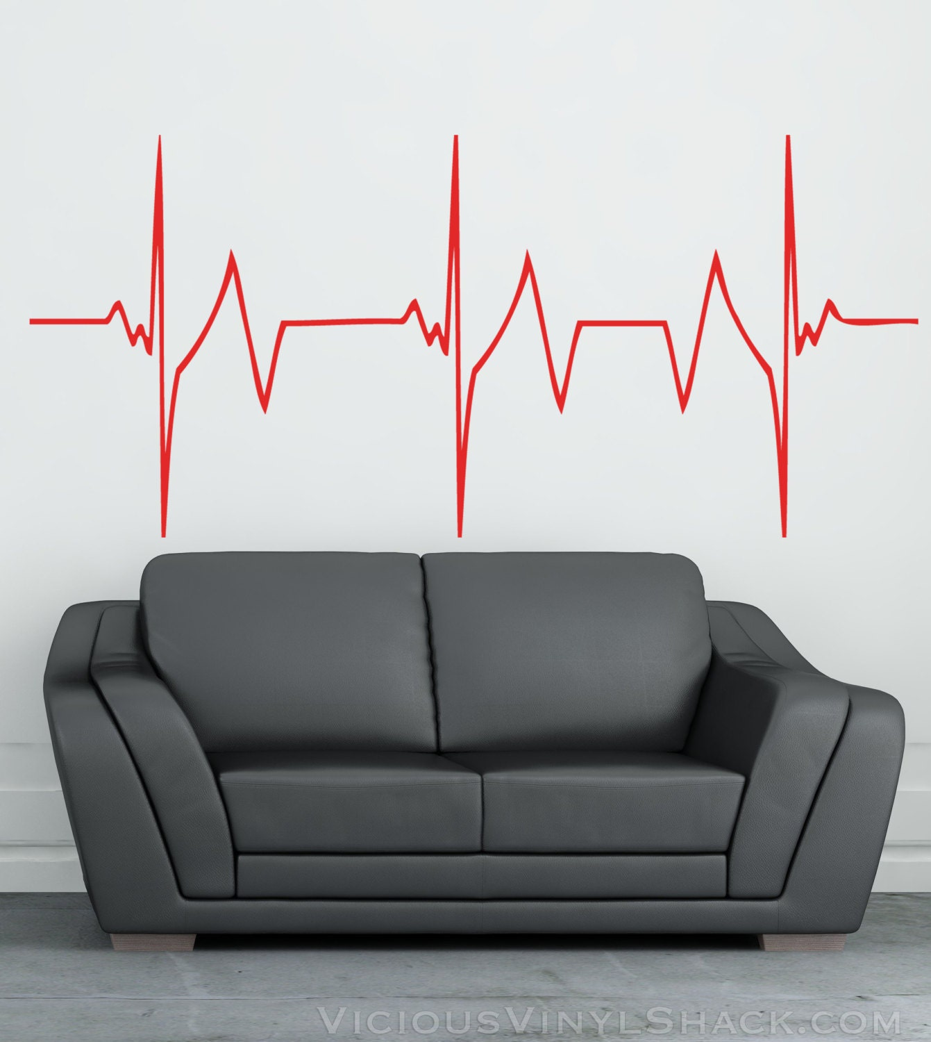 Rapid heartbeat vinyl wall decal stickers multiple colors zoom amipublicfo Choice Image