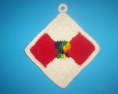 Crocheted Bow Tie Quilt Potholder PATTERN C-122