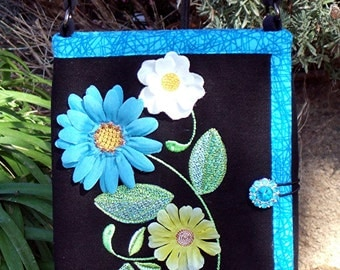 Electronic Tablet Organizer with Silk Flowers