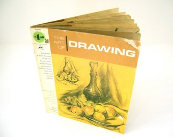 Mid Century vintage how-to book, Art of Drawing, gift idea for boys, girls, men women children, inspiration guide to learn how to draw.