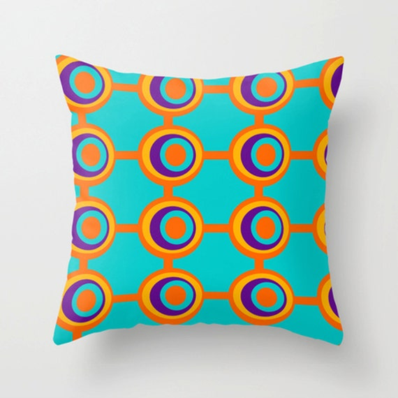 All Modern Outdoor Pillows : Modern Outdoor Pillow Teal Outdoor Pillow Geometric Outdoor