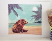 Beach Bear // Signed A3 print