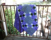 Lavender patches table runner