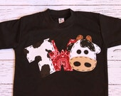 barnyard birthday shirt, two, cow, 2nd,  t shirt, barn yard, farm theme, boy black shirt