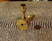 Two Miniature Gold Tone Candle Holders