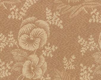 Plum Sweet - Pansy in Sand Dune by Blackbird Designs for Moda Fabrics