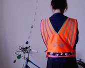 JOYRIDE Neon High Vis Bicycle Vest velcro fastening