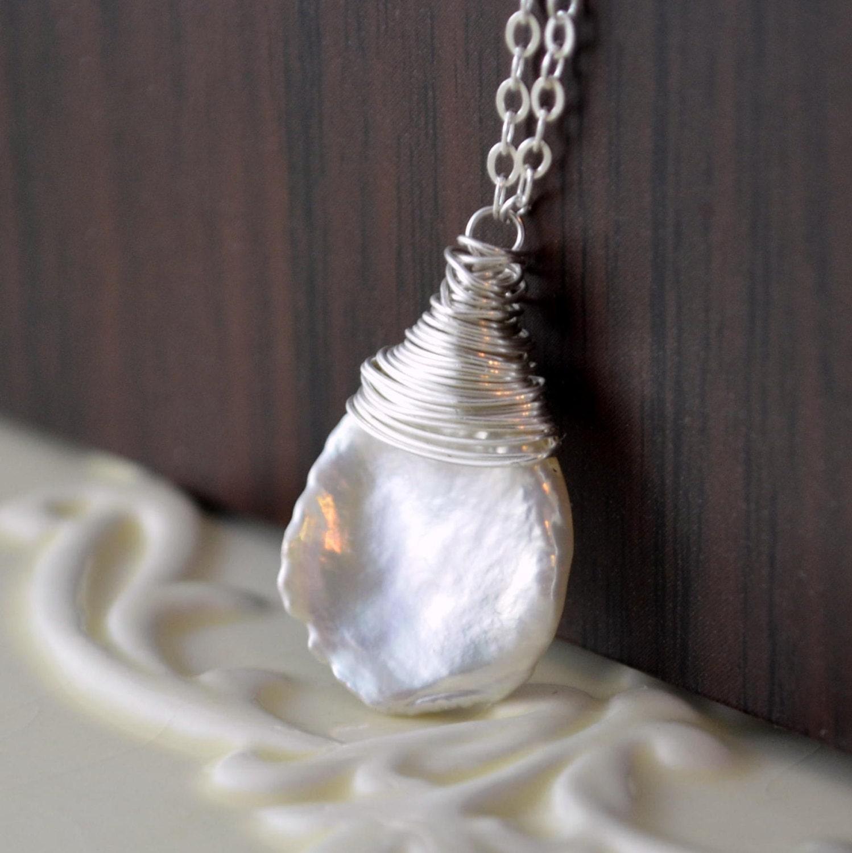 Keshi Pearl Necklace: Keshi Freshwater Pearl Necklace Keishi Simple Summer