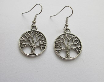 Tree of Life Earrings  // Tree Jewelry // Circle of Life // Gift for Girlfriend, Mom, Sister // Natural Beauty