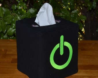 Power On Button Tissue Box Cover