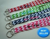 PERSONALIZED Lanyard With NAME and Your Choice of Fun Ribbon Prints