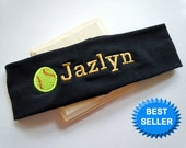 Softball Stretch Headband PERSONALIZED and FULLY CUSTOMIZABLE with your name and colors and many sports available
