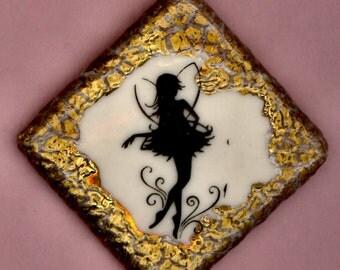 Porcelain Button Fairy