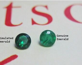 Genuine Emerald Upgrade 3mm Faceted Gemstone