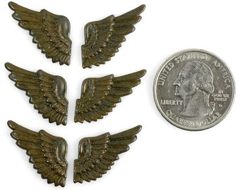 Rusty Black Plated Mini Wings Three Sets of Two * RB-C31