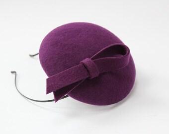 Mini Hat-Button-Violet-Wool Felt