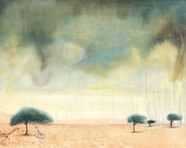 Giclee Print -  Storm from children's picture book 'The Zebra Who Ran Too Fast'