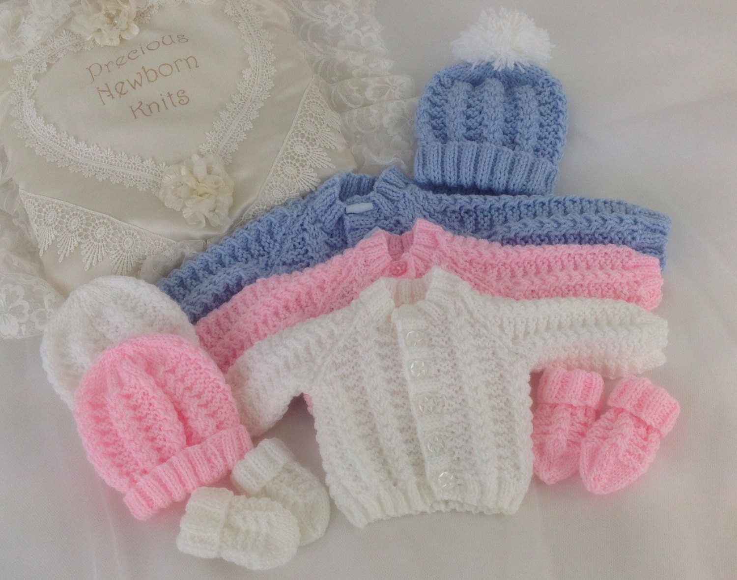 Knitting Patterns For Neonatal Babies : Baby Knitting Pattern Boys Girls Early Baby Reborn Dolls