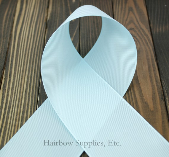 Light Blue 7/8 inch - choose from 1-50 yards Grosgrain Ribbon - Hairbow Supplies, Etc.