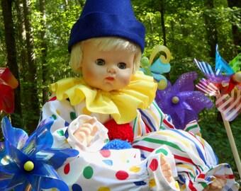 "C256  Baby Clown  Bright & Colorful ""Bingo"" Clown Halloween Costume Babies Small"