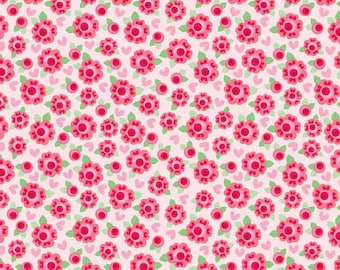SALE - One Yard - Lovey Dovey Roses in Red - for Riley Blake