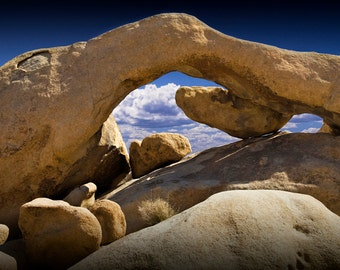 Rock Arch in the Joshua Tree National Park in California No.0308 - A Fine Art Desert Landscape Photograph