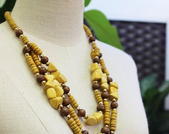 Coconut Shell Beads Necklace - CL1409-05