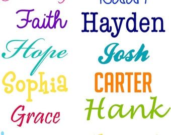 name decal name wall decal custom wall decals name stickers wall decor