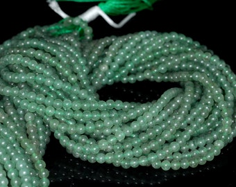 """3mm Green Agate Round beads full strand 16"""" Loose Beads P142745"""