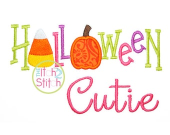 Halloween Cuite Applique Design  4x4, 5x7, and 6x10  INSTANT DOWNLOAD now available