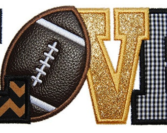 Football Love 2 Applique Design For Machine Embroidery INSTANT DOWNLOAD now available