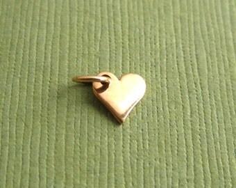 Golden Bronze Small  Heart Charm