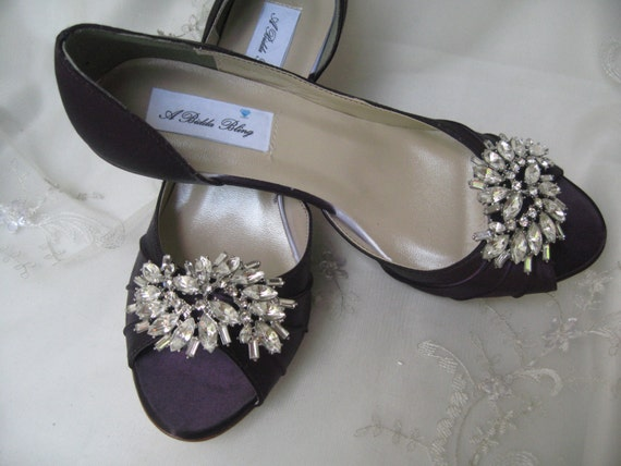 eggplant wedding shoes wedding shoes eggplant purple bridal shoes with large 3842