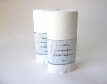 Deodorant Stick, Lemongrass Deodorant  Aluminum and Corn Free Formula