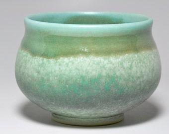 Small green Porcelain Bowl // ceramic // handmade // wheel thrown // OOAK