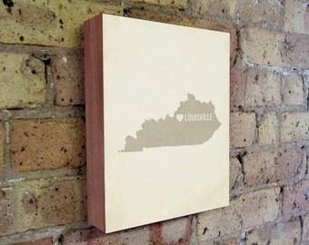 Louisville Art Print - Kentucky Art - Louisville Art - Louisville Kentucky - I Love Louisville - Wood Block Art Print
