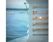 "Beach Photography, Fine Art Photography, Coastal Home Decor, Blue, Wall Art, 8x10 Print, Shabby Chic, ""Cottage Light"""