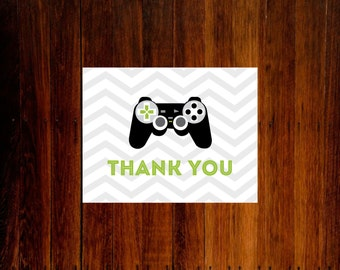 Video game thank you cards - set of 12