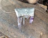 Venezuela Amethyst, Quartz, Metalwork Necklace