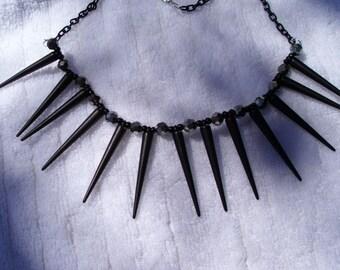 Black spiked Voodoo necklace