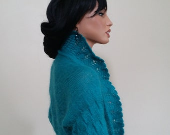 Unique knitted jacket, mohair