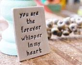 mens pocket token christmas love token memory token mourning, grieving, bereavement, remembrance sterling worry stone
